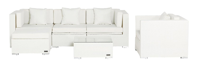 Outflexx Loungemöbel Set, Rattan-Look Kombi 6-teilig w29 Box, weiß