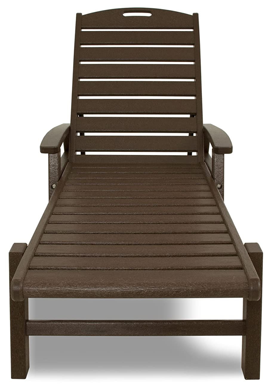 Trex Outdoor Furniture Yacht Club Stackable Chaise Lounger with Arms, Vintage Lantern 1