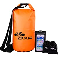OXA 20-Liter Waterproof Dry Bag with Dual Shoulder Straps for Camping