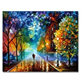 DIY Oil Painting Newsight Paintworks Paint By Number for Kids and Adults (Romantic Night) (Color: Romantic Night)