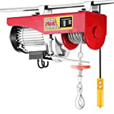 OrangeA Electric Hoist 1320LBS Lift Electric Hoist 110v Mini Electric Winch Wire Cable Hoist Overhead Crane Lift with Remote Control (1320LBS) (Color: 1320LBS)