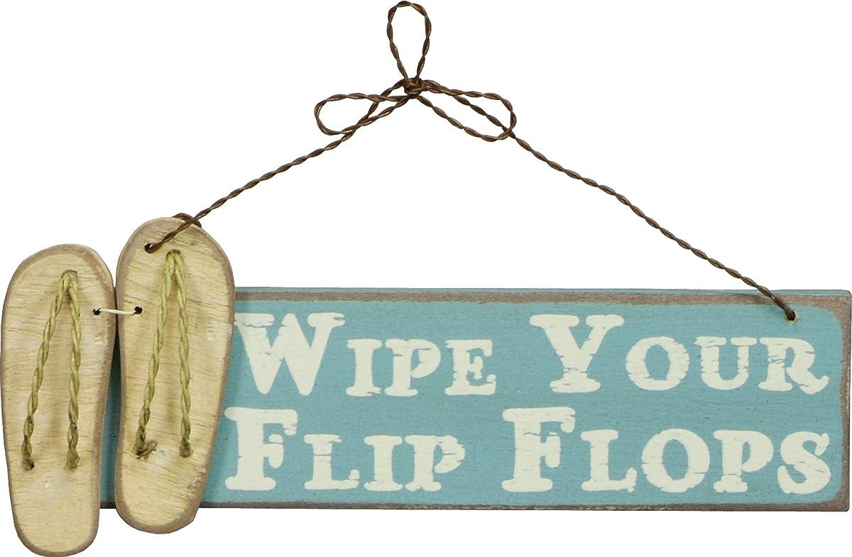 WIPE YOUR FLIP FLOPS Wooden Sign with Hanger