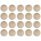 Wood Ball - 20-Pack Unfinished Wooden Balls, Mini Round Craft Balls for DIY Projects, Kids Arts and Craft Supplies, 1.5 Inches Diameter (Color: brown, Tamaño: 20-Pack, 1.5 Inches Diameter)