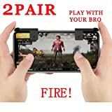 PUBG Mobile Game Controller Autra Fire Button and Aim Key Joystick Shooter Control Gaming Gun Trigger for Rules of Survival, Sensitive Shoot iPhone,Sumsung Galaxy,Android,iOS (2 Pair) (Tamaño: 2 Pair)