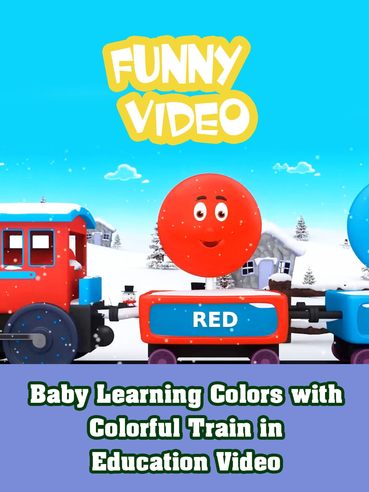 Baby Learning Colors with Colorful Train in Education Video