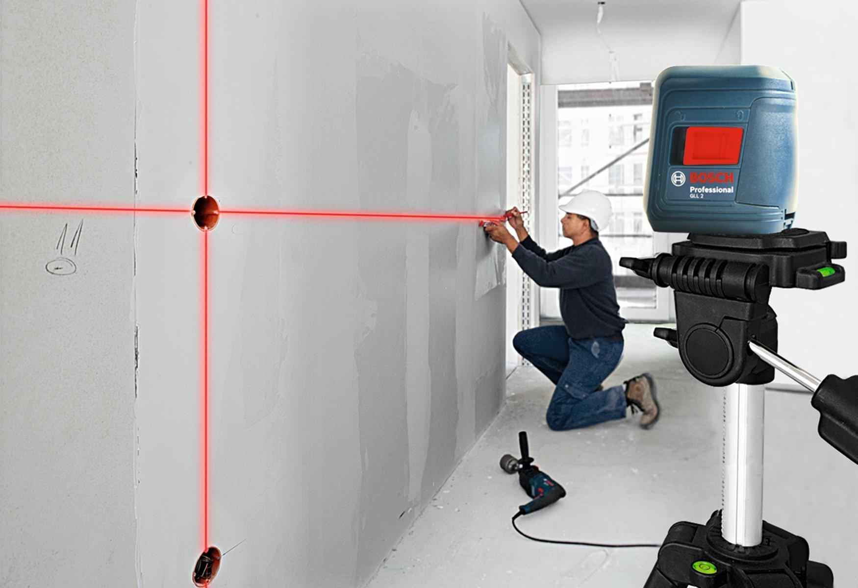 bosch gll 2 self leveling cross line laser level with mount ebay. Black Bedroom Furniture Sets. Home Design Ideas