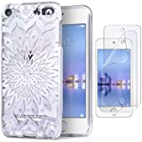 IDWELL iPod Case for iPod Touch 7 Touch 6 Touch 5,Soft Bumper,TPU Clear Case,Slim Lightweight Colorful Shiny Flexible Glossy Cover for Apple iPod Touch 7G 2019 Released/6G 2015 /5G, Mandala Clear (Color: Mandala Clear)