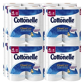 Cottonelle Clean Care Toilet Paper, Double Roll, 4 Count (Pack of 8)