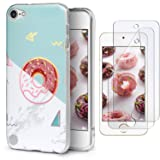 IDWELL iPod Touch 7 Touch 6 Touch 5 Case with 2 Screen Protectors,Slim FIT Anti-Scratch Flexible Soft TPU Bumper Hybrid Shockproof Protective Case for Apple iPod Touch 5/6/7th Gen,Donut (Color: Donut)