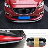 SEAMETAL Front Spoiler Lip Bumper Guard 8ft Auto Parts Universal Fit Carbon-fiber Car Front Bumper Spoiler Lip Splitter Side Skirt Roof Spoiler 100% Water Resistant Protection,Rubber Bumper