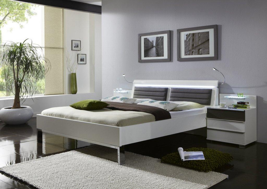 Bettanlage 140 x 200 cm alpinweiss/ Havanna Nachbildung online kaufen
