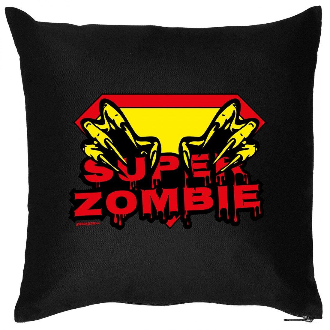Kissen Sofakissen mit grusel Aufdruck – Super Zombie – Horror Hexe Monster Halloween Geschenk – Wendekissen jetzt bestellen