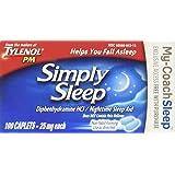 Tylenol Simply Sleep Nighttime Sleep Aid Caplets-100 count (Tamaño: 100 Count)