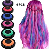 HAIR CHALKS SET: 6 Colors Temporary Hair Coloring Chalk - Hair Dye Colorful Sticks - Dress Up Performance Costumes Halloween Christmas Party (Color: 6 colors)