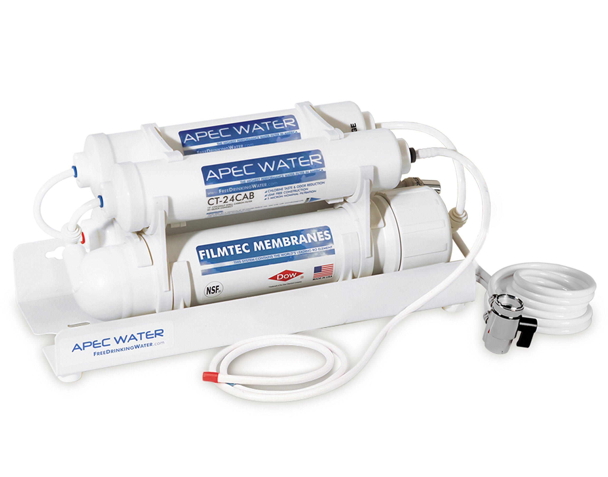 APEC Water - US Made - Countertop Reverse Osmosis Water Filter - Portable & Installation-Free (RO-CTOP)