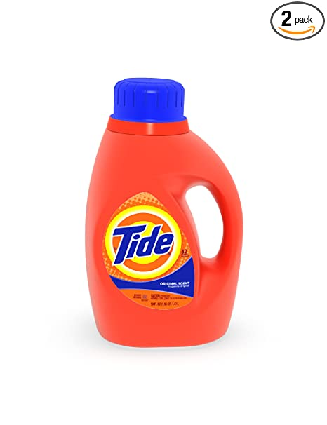 2-pack 50-oz Tide High Efficiency Laundry Detergent: Original, Bleach Alternative $9.88
