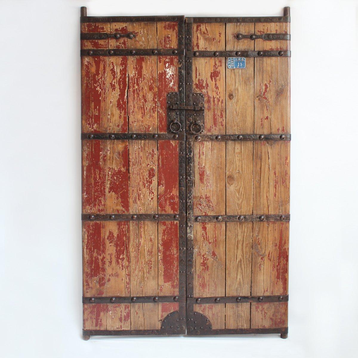 Antique Wood & Iron Garden Gate 0
