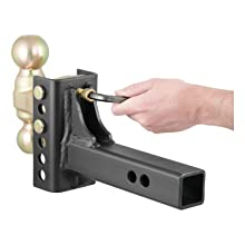CURT Manufacturing 45900 Channel-Style Adjuastable Dual Ball Mount