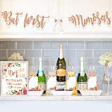 MORDUN Mimosa Bar Supplies - Rose Gold Sign Banner Tags Kit- Bridal Shower Decorations - Decor for Baby Shower Champagne Brunch Bubbly Bar Wedding Engagement Birthday Party Graduation Fiesta (Color: Mimosa Bar Kit - Rose Gold)
