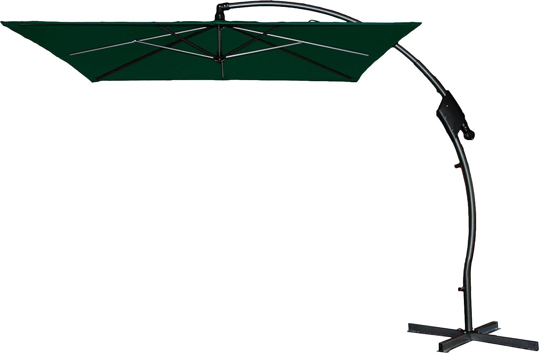 Hartman Ampelschirm 250×250 cm Tenero dunkelgrün Sonnenschirm Sonnenschutz incl. Schirmfuß günstig bestellen