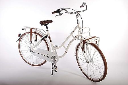 Vélo femme 28 pouces frein Alloy Shimano 3 vitesses 12 + ans blanc