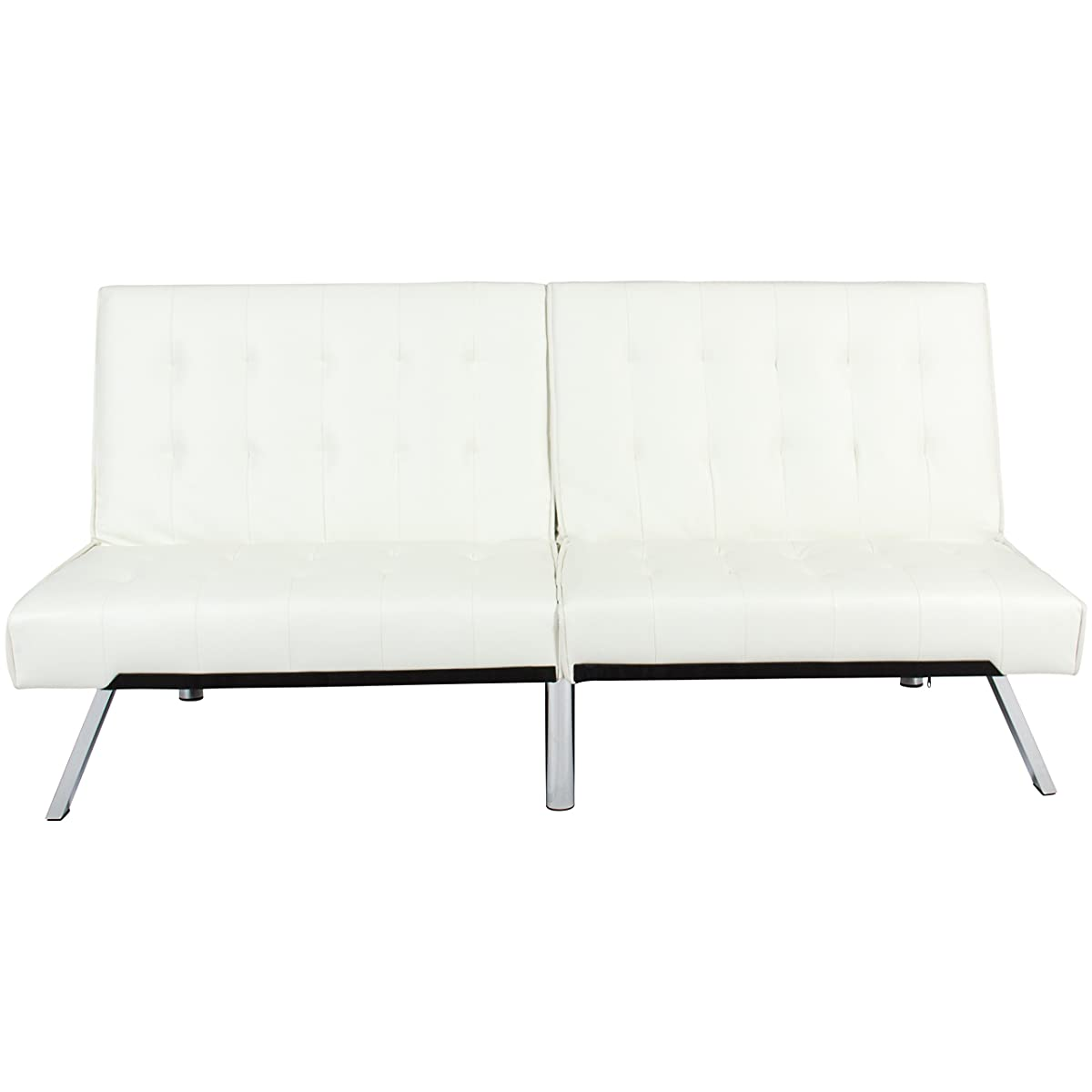 20 Choices Of White Leather Sofas: Best Choice Products Modern Leather Futon Sofa Bed Fold Up