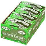Military Energy Gum 24 Pack | 100mg of Caffeine + Increases Physical Performance & Cognitive Abilities + Spearmint (120 Count)