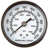 Marsh Bellofram GG201000C4 Marshalltown Value Series Gauge, 2