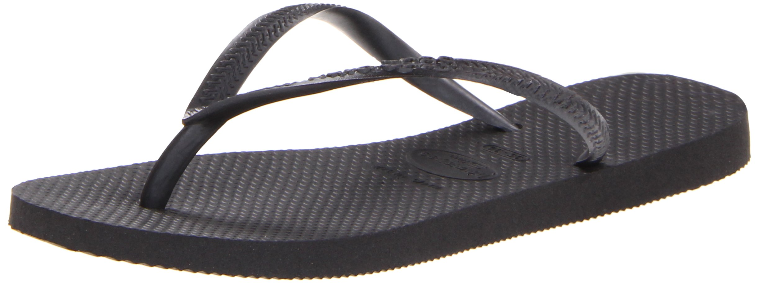 Havaianas Women's Slim Flip Flop Black 37/38 Br/7-8M Us 14