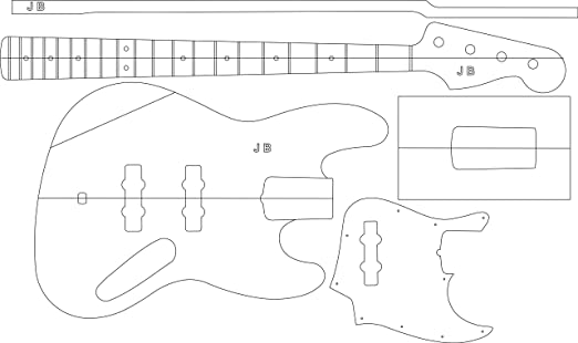 Electric Guitar Stencil Electric Guitar Layout