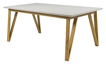 Tenzo 6961-912 Cross Designer Table pour Salle à manger Chêne Gris 95 x 185 x 75 cm