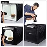 Amzdeal Light Box Photo Studio 20 x 20 inch Professional Photography Tent with LED Light 4 Backdrops (White Black Orange Grey) (Tamaño: 20 inch)