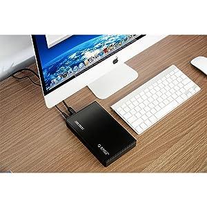 Adaptador para disco duro externo ORICO 3588US3 SATA / SSD de 3.5 pulgadas USB 3.0 super rápido, no requiere herramienta
