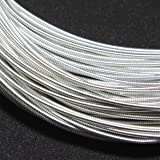 Embroiderymaterial Stiff Wire/Gijai Gimp Wire for Embroidery & Jewellery Making 100Gram (Silver Color, 1.25MM) (Color: Silver, Tamaño: 1.25MM)
