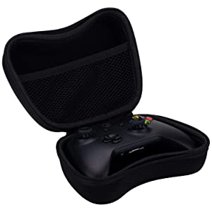 9CDeer EVA Universal Carrying Travel Protective Bag Pouch Hard Case for PS4, Xbox One, Switch Pro, PS3, Xbox 360 Controller or Any Similar Size Controller with Small Accessories Pocket Inside + Thumb (Color: Black, Tamaño: Case)