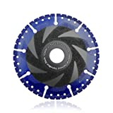 SHDIATOOL 5 Inch Metal Cutting Diamond Blade All-Purpose Cut-off Wheel Marble Aluminum Pipe Iron Hard Plastic PVC and more (Color: Black and Blue, Tamaño: 5 Inch)
