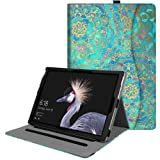 Fintie New Surface Pro 2017/Surface Pro 4 Case - Multi-Angle Viewing Folio Stand Cover with Pocket for Microsoft Surface Pro 2017/Pro 4 3, Compatible with Type Cover Keyboard, Shades of Blue (Color: Z-Shades of Blue)