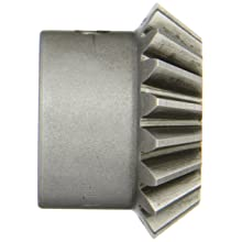 "Boston Gear HL151Y-P Bevel Pinion Gear, 1.5:1 Ratio, 0.500"" Bore, 12 Pitch, 18 Teeth, 20 Degree Pressure Angle, Straight Bevel, Keyway, Steel with Case-Hardened Teeth"