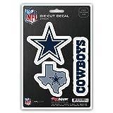 NFL Dallas Cowboys Team Decal, 3-Pack