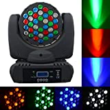 LED Beam Moving Head Light with Motorized Zoom,150W RGBW Wash Lighting Effect with Inno Color Beam for Mobile DJ Party Bars Club Wedding Sound Activated, Master-slave, Auto Running (Color: 36*3 W LED Beam Light)