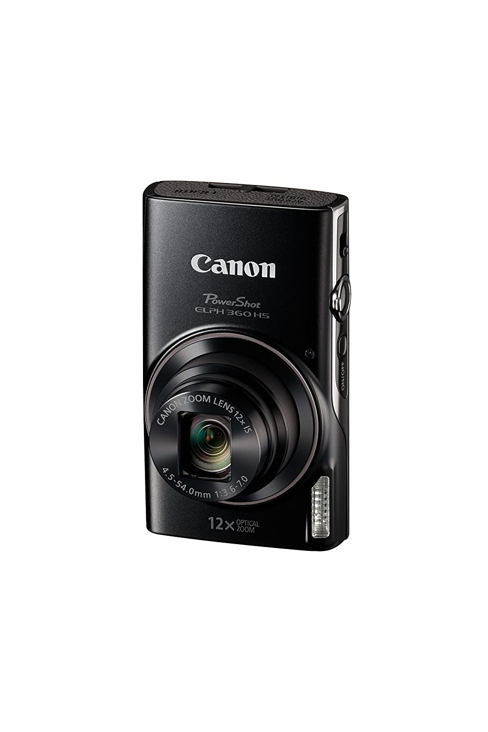Canon PowerShot ELPH 360 HS (Black) with 12x Optical Zoom and Built-In Wi-Fi