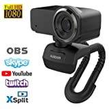Ausdom Full HD Laptop Webcam, 1080P Streaming Web Camera with Built-in Stereo Microphone, Widescreen Video Calling and Recording Desktop or PC USB Camera for YouTube Xsplit Mixer Skype Twitch OBS (Color: Black, Tamaño: Small)