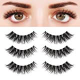 BEPHOLAN 3 Pairs 5D Multi-layered Faux Mink Lashes| Fluffy Volume False Eyelashes| Natural Look| 3D Layered Effect| Reusable| 100% Handmade & Cruelty-Free| Easy to Apply| XMZ92 (Tamaño: xmz92)