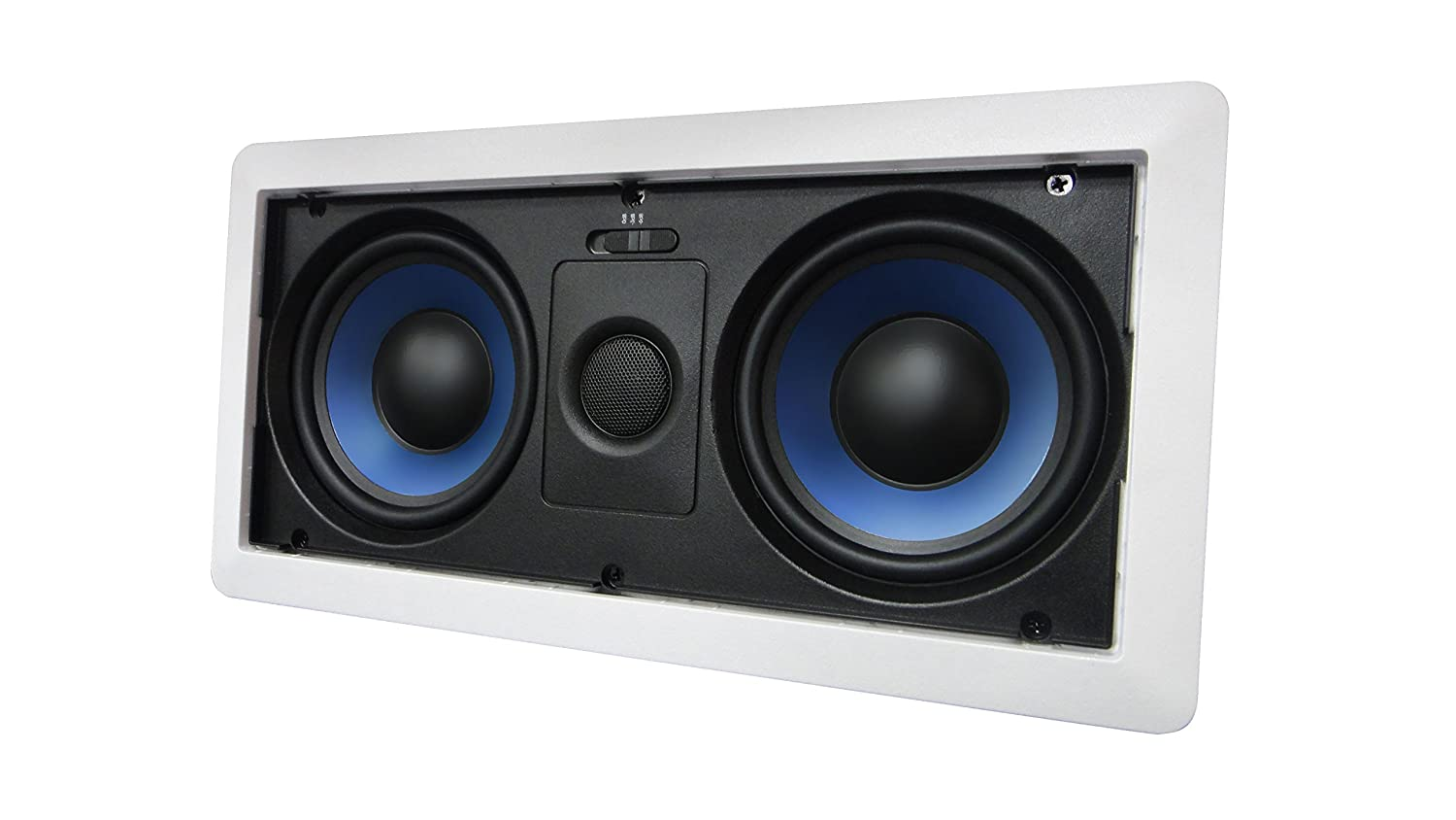 "5252W Silver Ticket Dual 5.25"" 80-Watt Center-Channel In-Wall Speaker with Pivoting Tweeter (1 Speaker, White)"
