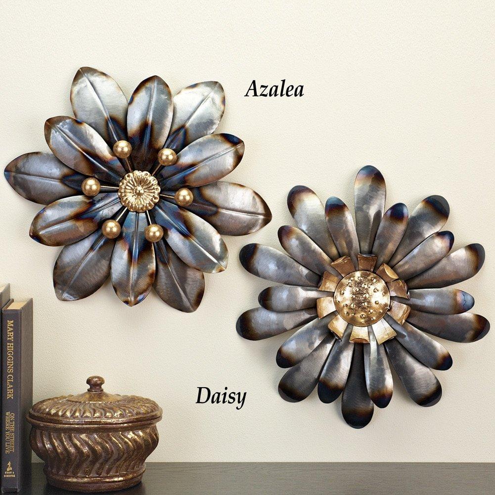 Metal Dimensional Wall Floral Art, Azalea