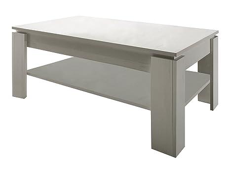 Furnline 1100-112-56 diseño Retro de mesa de café de plantas de madera de pino, blanco