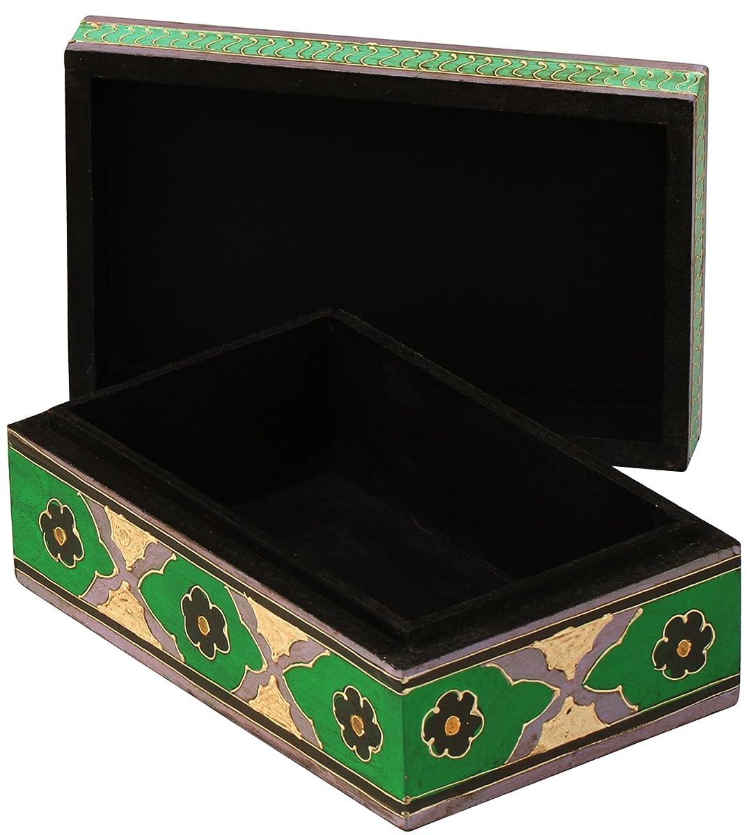 Hand-Painted Treasure Chest / Decorative Box – Multicolor