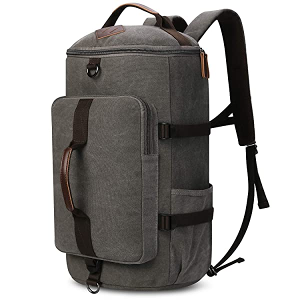GD-Clothes Big Capacity Sports Bags Canvas Drum Backpack-Teens School Backpack Lightweight Laptop Bag for Teenagers