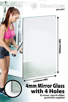 New 3 X 6Ft X 4Ft 183 X 122cm Large Mirror Glass Home Gym Or Dance Studio