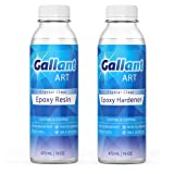 Epoxy Resin - Crystal Clear - Premium Artist Resin for Casting and Coating (32 oz.)